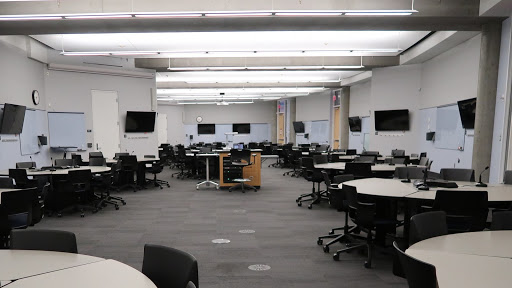 photo of active learning classroom in Bruininks Hall