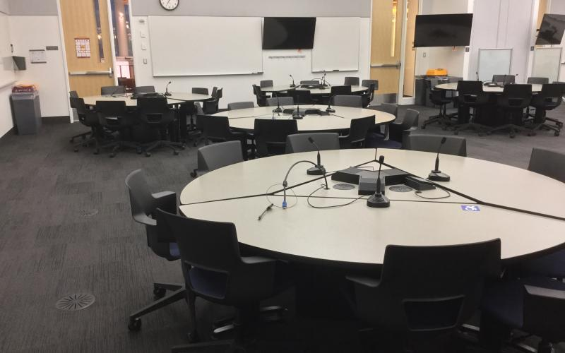 Current install in Bruininks 330, demonstrating expected upgrades to student tables.