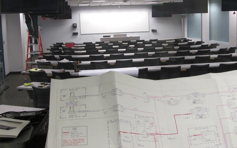 Photo of a previous installation in Mechanical Engineering, one of of the rooms to be upgraded in this project.
